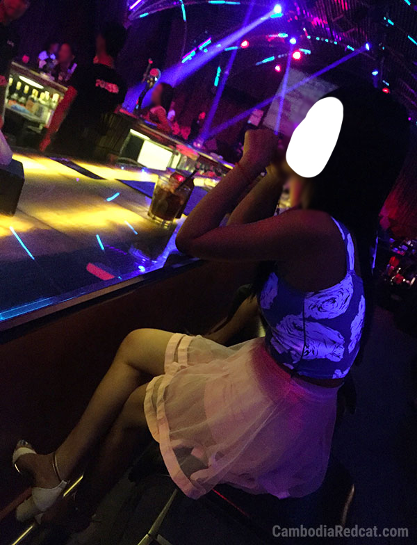 Girl in Phnom Penh Night Club