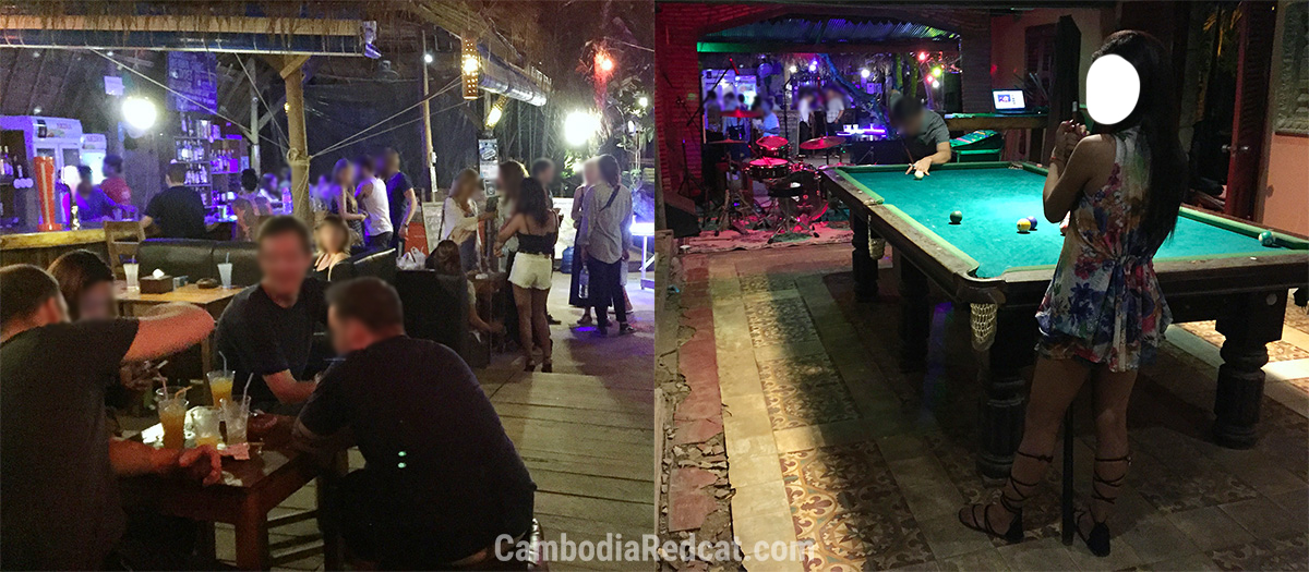 Girls in Kampot Nightclub