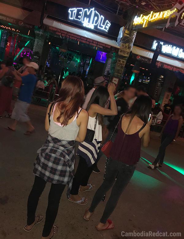 Girls in Siem Reap Night Club