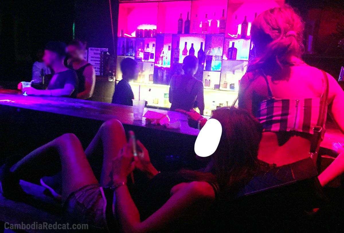 Girls in Sihanoukville Night Club