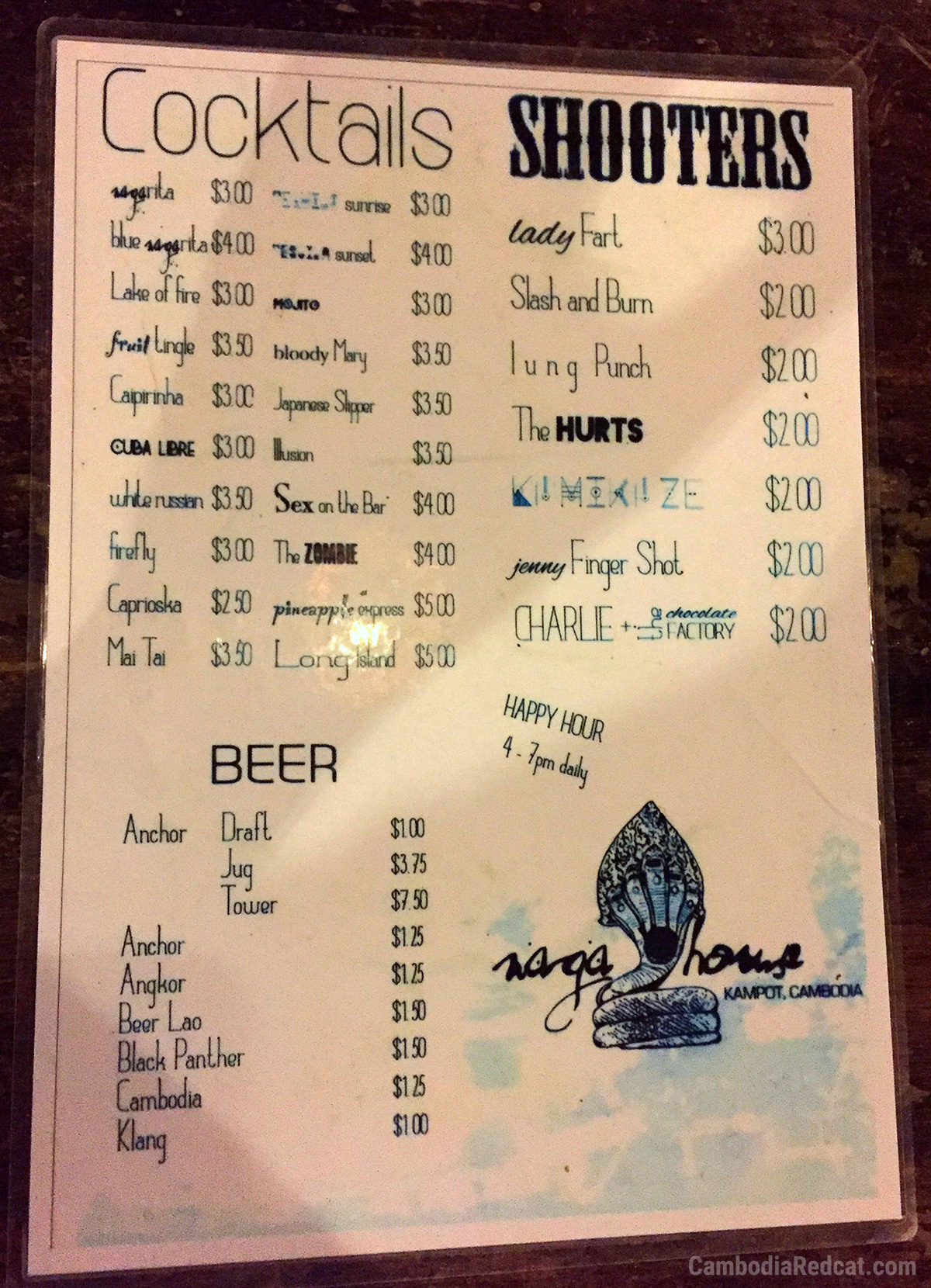 Kampot Night Club Prices