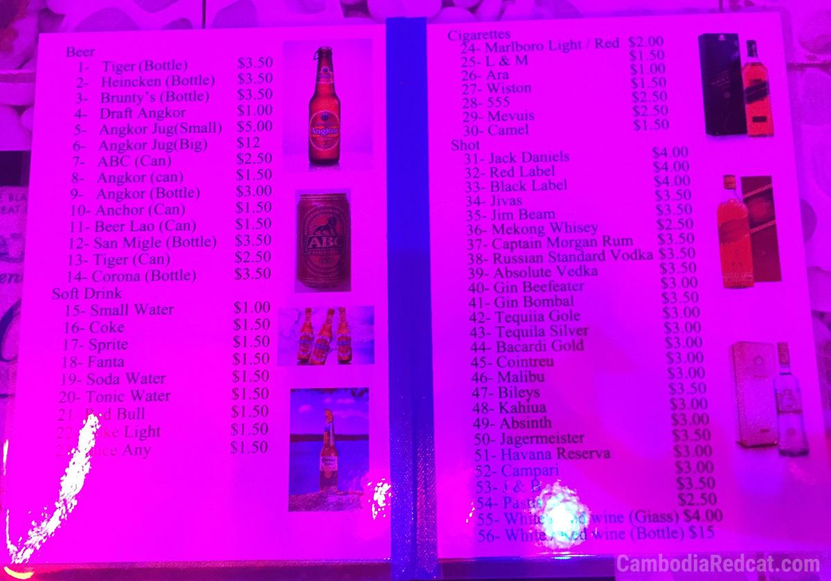 Sihanoukville Bar à Filles Prix